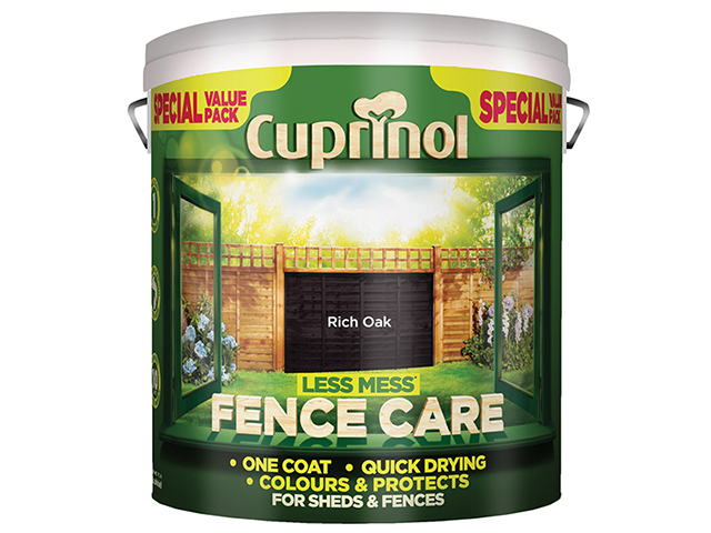 Cuprinol Less Mess Fence Care Rich Oak 6 Litre CUPLMFCRO6L