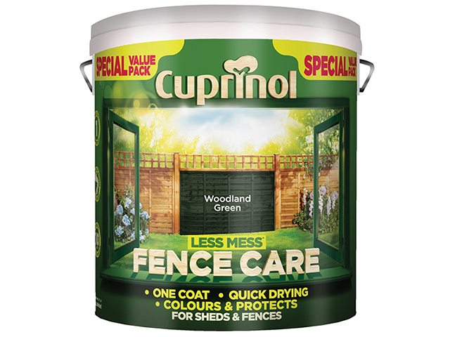 Cuprinol Less Mess Fence Care Woodland Green 6 Litre CUPLMFCWG6L