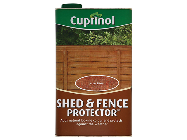 Cuprinol Shed & Fence Protector Acorn Brown 5 Litre CUPSFAB5L