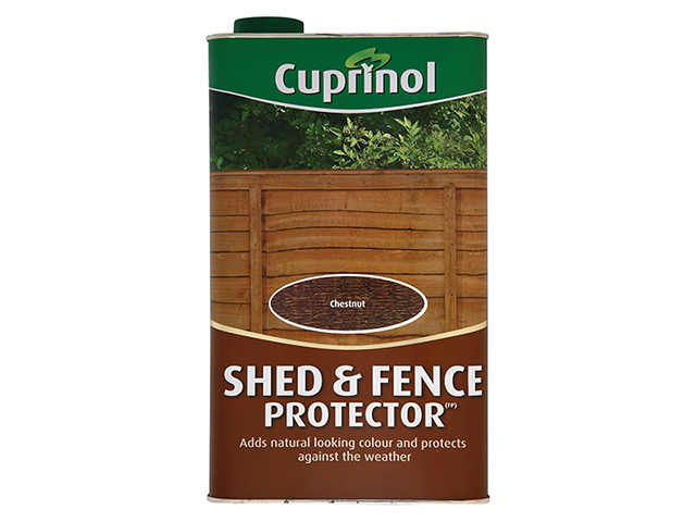 Cuprinol Shed & Fence Protector Chestnut 5 Litre CUPSFCH5L