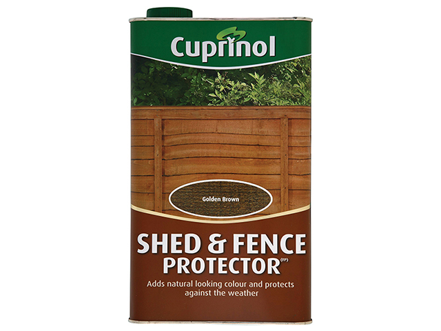 Cuprinol Shed & Fence Protector Gold Brown 5 Litre CUPSFGB5L