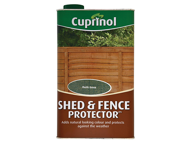 Cuprinol Shed & Fence Protector Rustic Green 5 Litre CUPSFRG5L