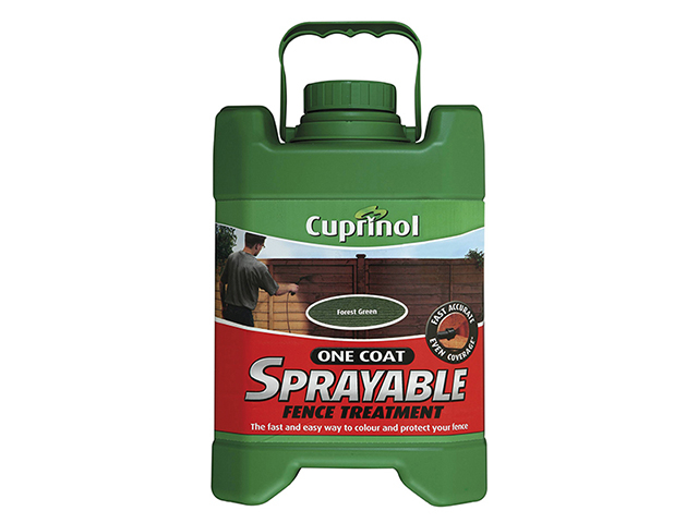 Cuprinol Spray Fence Treatment Forest Green 5 Litre CUPSFTFG5L