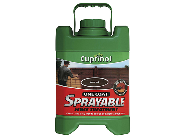 Cuprinol Spray Fence Treatment Forest Oak 5 Litre CUPSFTFO5L