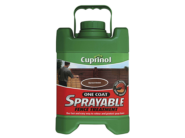 Cuprinol Spray Fence Treatment Harvest Brown 5 Litre CUPSFTHB5L