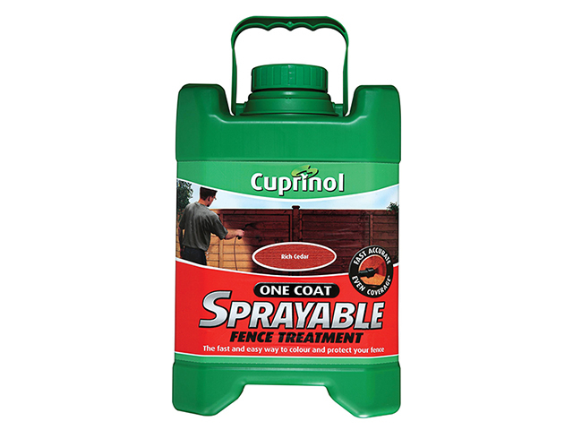 Cuprinol Spray Fence Treatment Rich Cedar 5 Litre CUPSFTRC5L