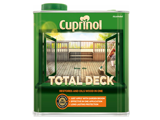 Cuprinol Total Deck Restore & Oil Wood Clear 2.5 Litre CUPTDC25L
