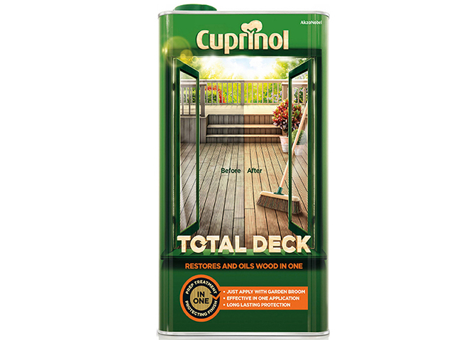 Cuprinol Total Deck Restore & Oil Wood Clear 5 Litre CUPTDC5L