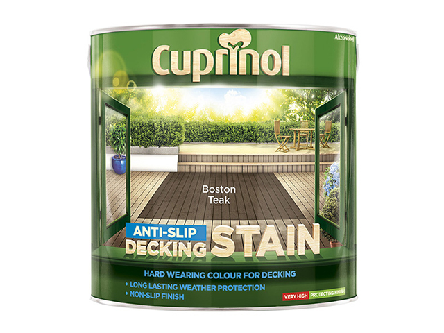Cuprinol Anti-Slip Decking Stain Boston Teak 2.5 Litre CUPUTDSBT25L