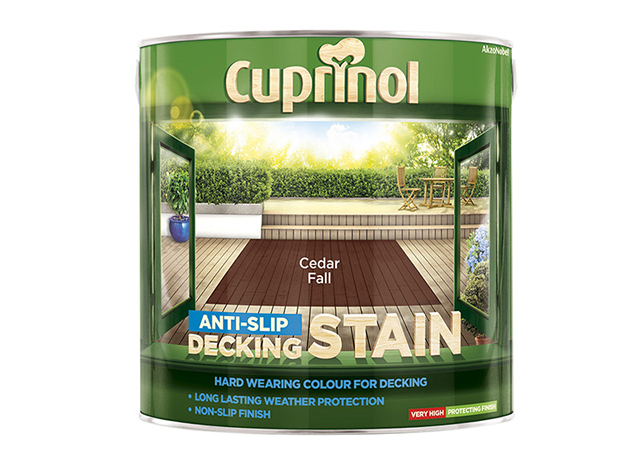 Cuprinol Anti-Slip Decking Stain Cedar Fall 2.5 Litre CUPUTDSCF25L