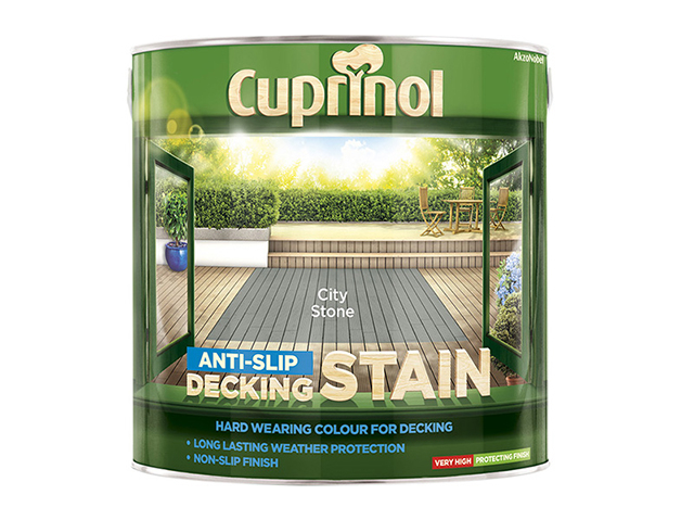 Cuprinol Anti-Slip Decking Stain City Stone 2.5 Litre CUPUTDSCS25L