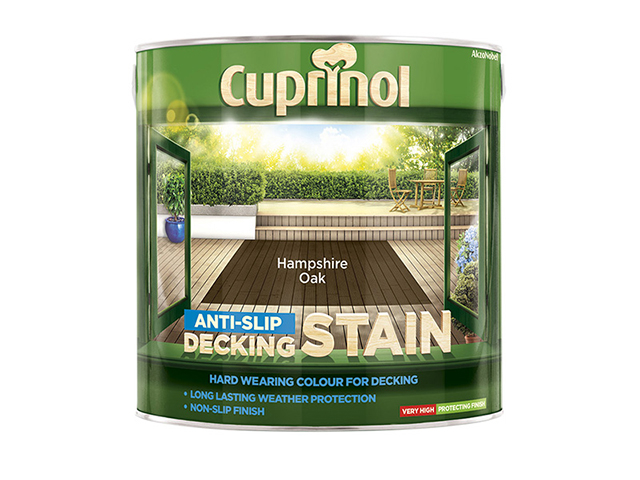 Cuprinol Anti-Slip Decking Stain Hampshire Oak 2.5 Litre CUPUTDSHO25L