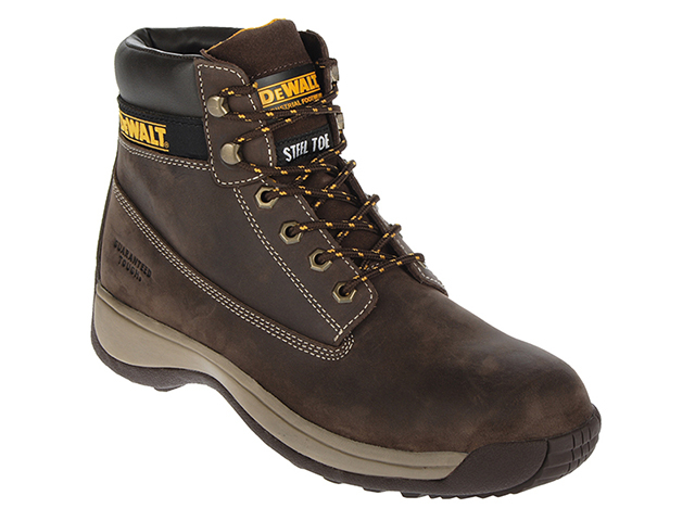 DEWALT Apprentice Hiker Brown Nubuck Boots UK 8 Euro 42 DEWAPPREN8B