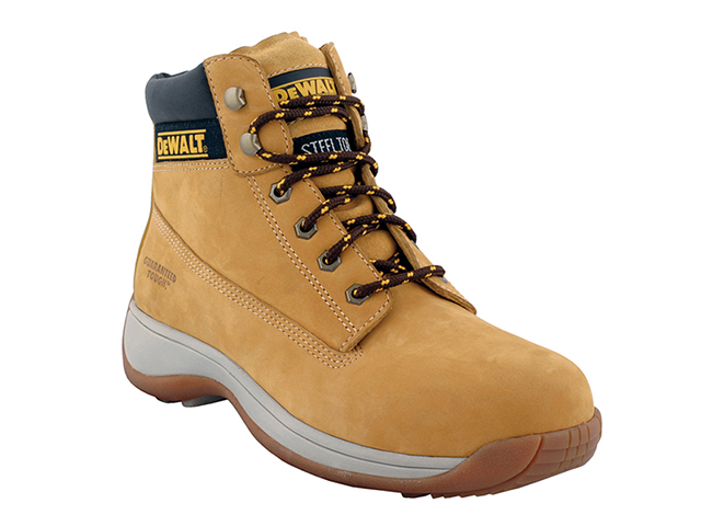 DEWALT Apprentice Hiker Wheat Nubuck Boots UK 4 Euro 37 DEWAPPRENT4