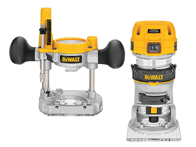 DEWALT D26204K 1/4in Premium Plunge & Fixed Base Combi Router 900W 110V DEWD26204KL