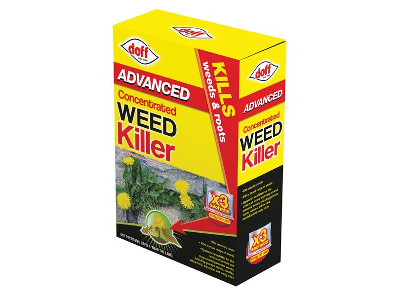 DOFF Advanced Concentrated Weedkiller 3 Sachet DOFFY003