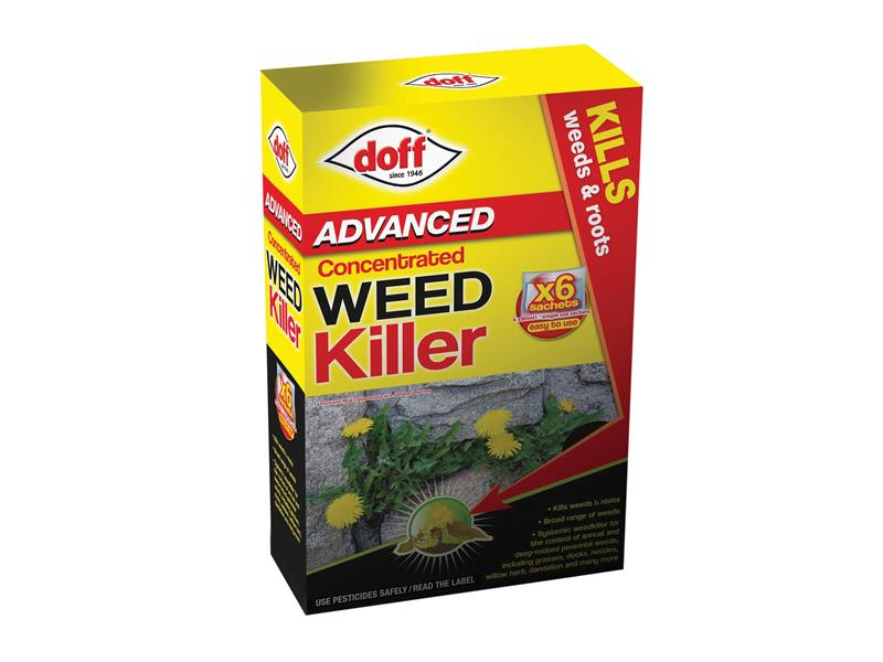 DOFF Advanced Concentrated Weedkiller 6 Sachet DOFFY006