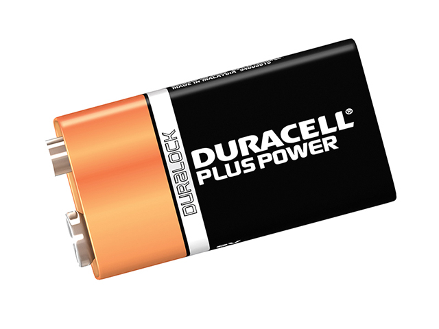 Duracell 9V Cell Plus Power Battery Pack of 1 MN1604/6LR6 DUR9VK1P