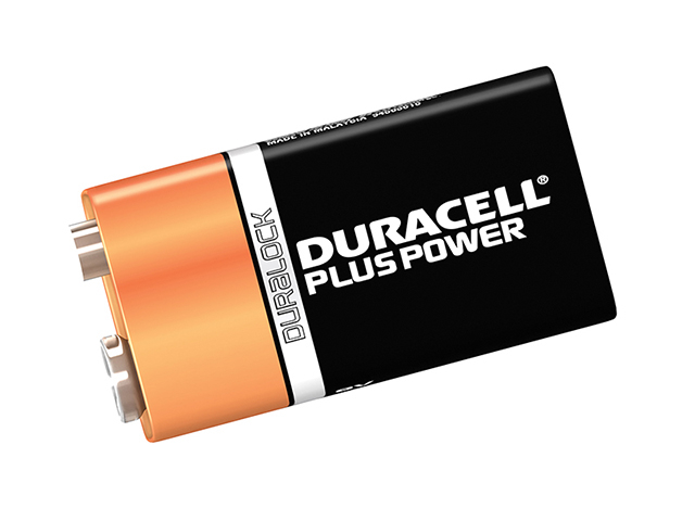 Duracell 9V Cell Plus Power Battery Pack of 2 MN1604/6LR6 DUR9VK2P