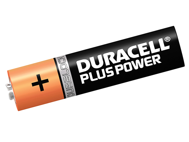 Duracell AAA Cell Plus Power Batteries Pack of 4 RO3A/LR0 DURAAAK4P