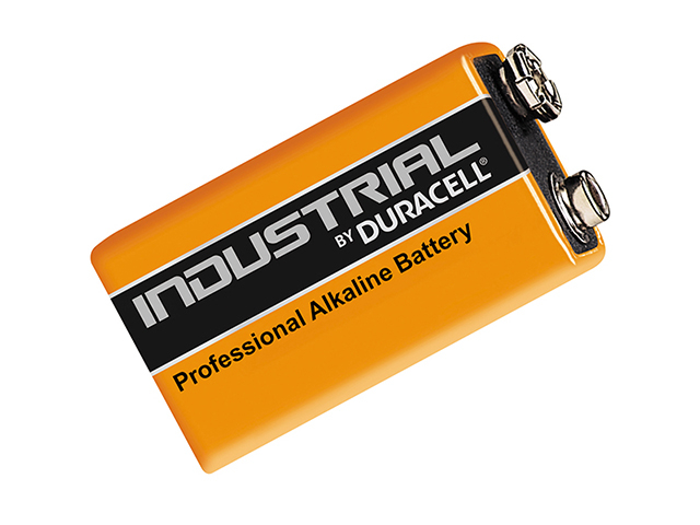 Duracell 9 Volt Professional Industrial Batteries Pack of 10 DURIND9V