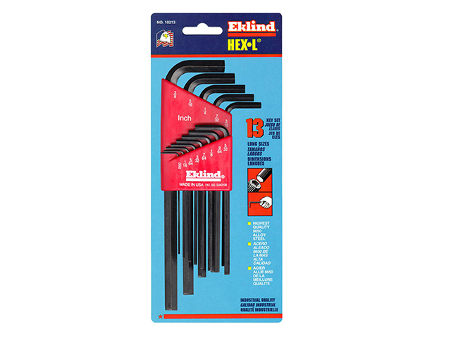 Eklind Hexagon Key Long Arm Set of 13 Imperial (1/16 - 3/8in) EKL10213