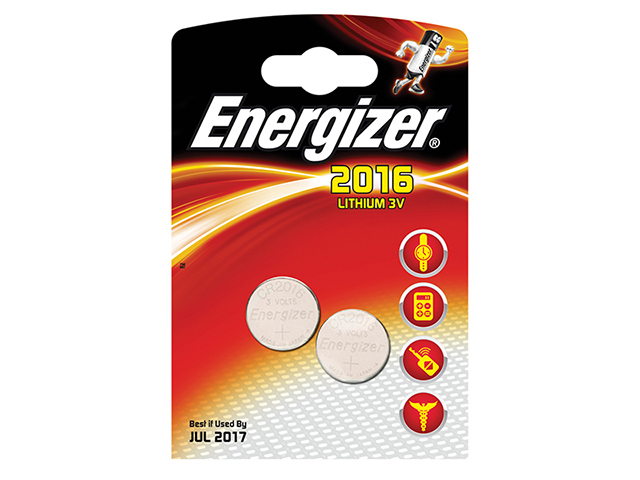Energizer® CR2016 Coin Lithium Battery Pack of 2 ENG2016B2