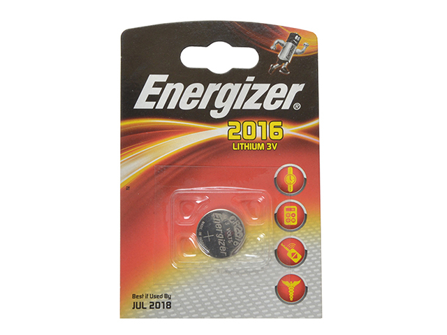 Energizer® CR2016 Coin Lithium Battery Single ENGCR2016