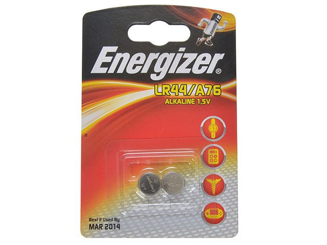 Energizer® LR44 Coin Alkaline Batteries Pack of 2 ENGLR44B2