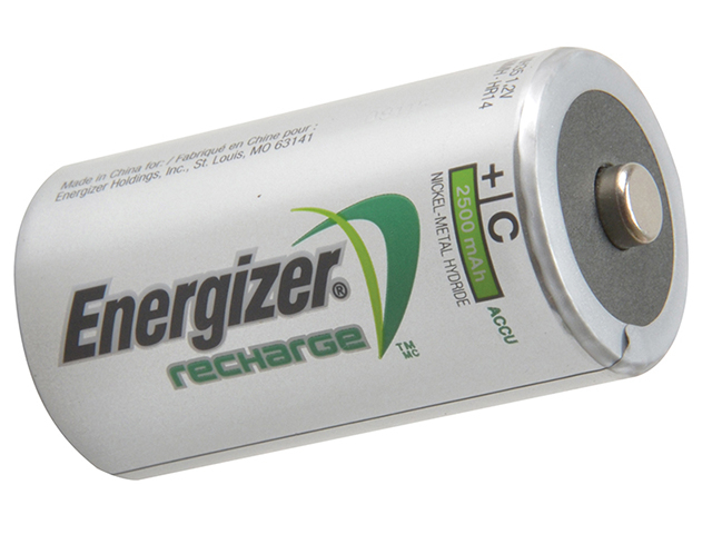 Energizer® C Cell Rechargeable Power Plus Batteries RC2500 mAh Pack of 2 ENGRCC2500