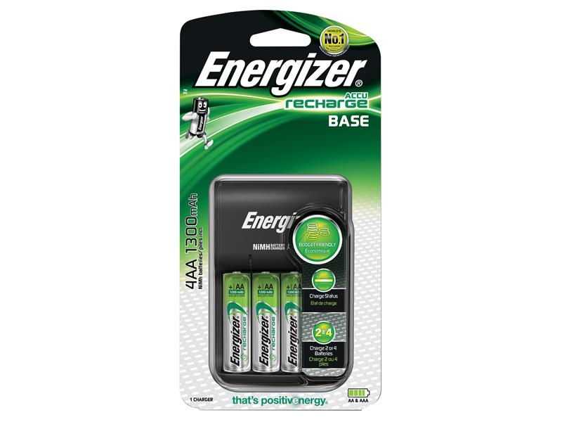 Energizer® Charger 1300 + 4 AA 1300mAh Batteries ENGRCCOMPACT