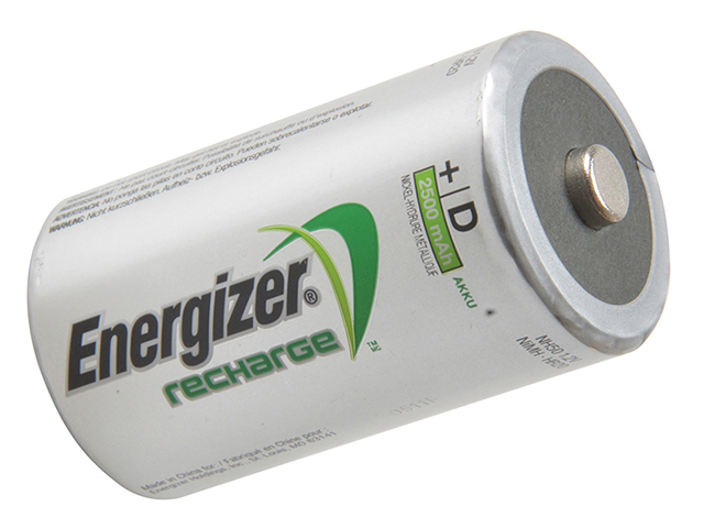 Energizer® D Cell Rechargeable Power Plus Batteries RD2500 mAh Pack of 2 ENGRCD2500