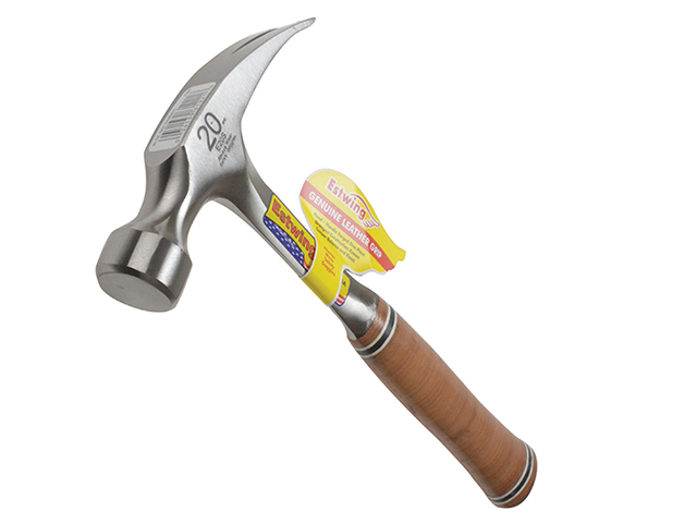 Estwing E20S Straight Claw Hammer - Leather Grip 560g (20oz) ESTE20S