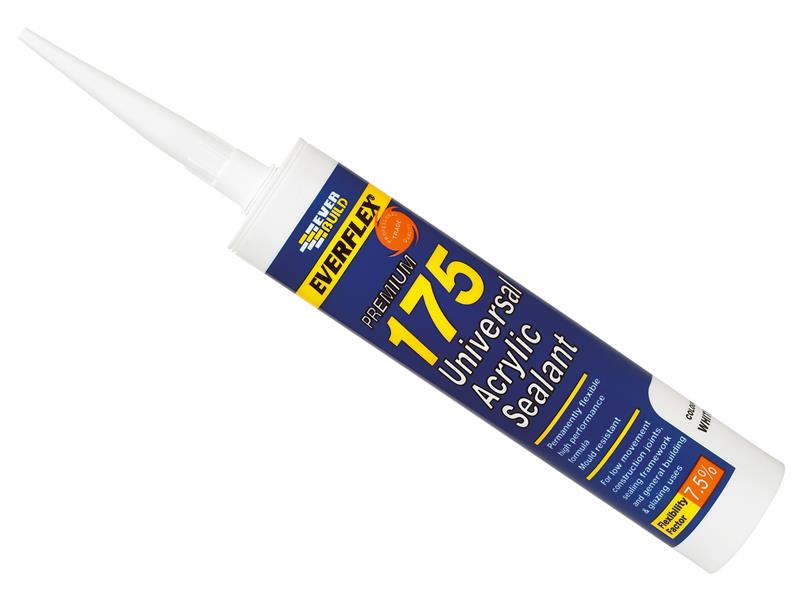 Everbuild 175 Universal Acrylic Sealant White 300ml EVB175WE