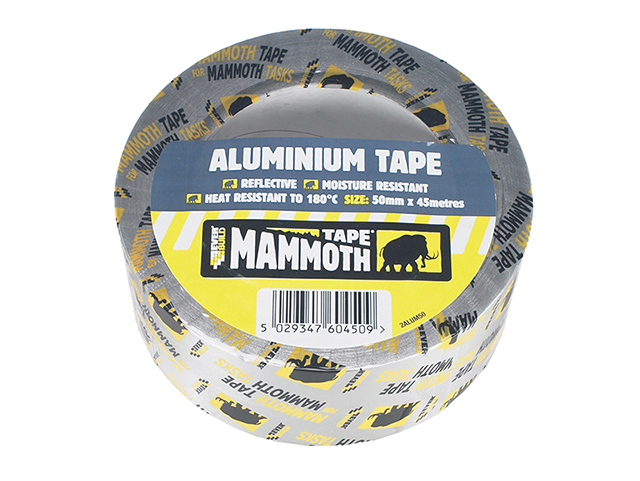 Everbuild Aluminium Tape 50mm x 45m EVB2ALUM50