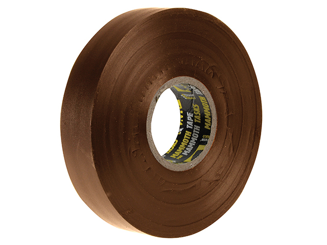 Everbuild Electrical Insulation Tape Brown 19mm x 33m EVB2ELECBN