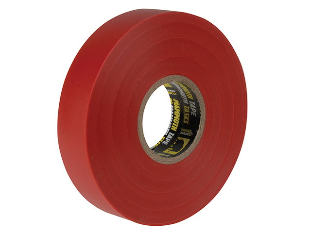 Everbuild Electrical Insulation Tape Red 19mm x 33m EVB2ELECRED