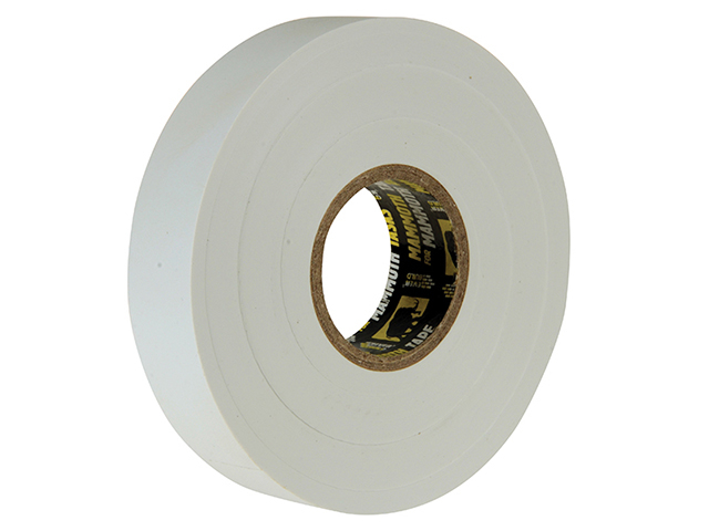 Everbuild Electrical Insulation Tape White 19mm x 33m EVB2ELECWE