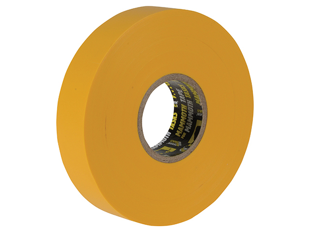 Everbuild Electrical Insulation Tape Yellow 19mm x 33m EVB2ELECYW
