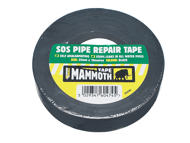 Everbuild SOS Pipe Repair Tape Black 25mm x 10m EVB2SOSBK