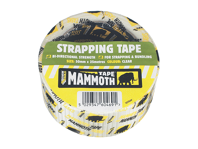 Everbuild Strapping Tape Clear 50mm x 25m EVB2STRAP