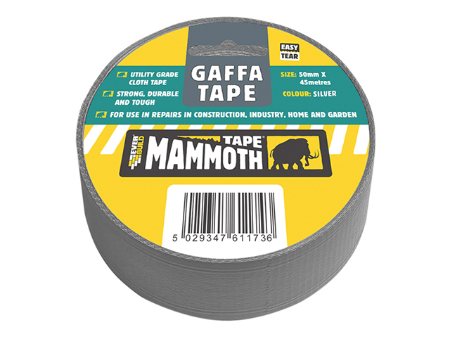 Everbuild Gaffa Tape Silver 50mm x 45m EVB2VGTV45