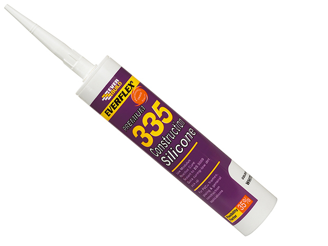 Everbuild 335 Construction Silicone White 295ml EVB335WE