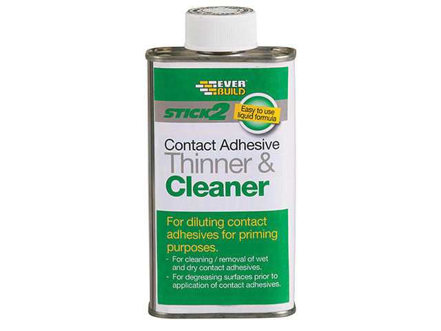 Everbuild STICK2® Adhesive Thinner & Cleaner 1 litre EVBCONTHIN1