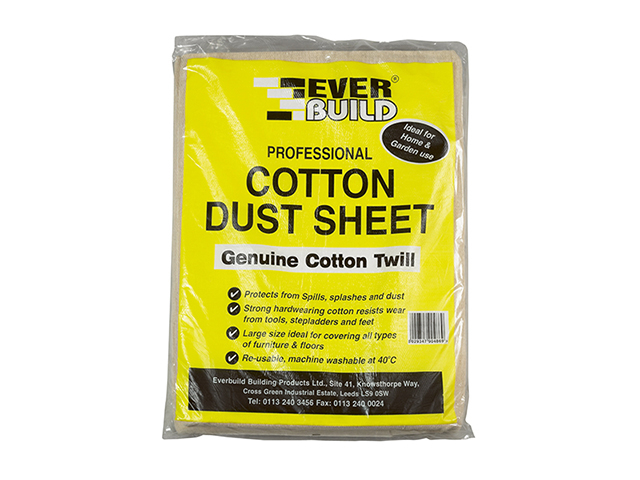 Everbuild Cotton Dust Sheet 3.6 x 2.7m EVBDUST