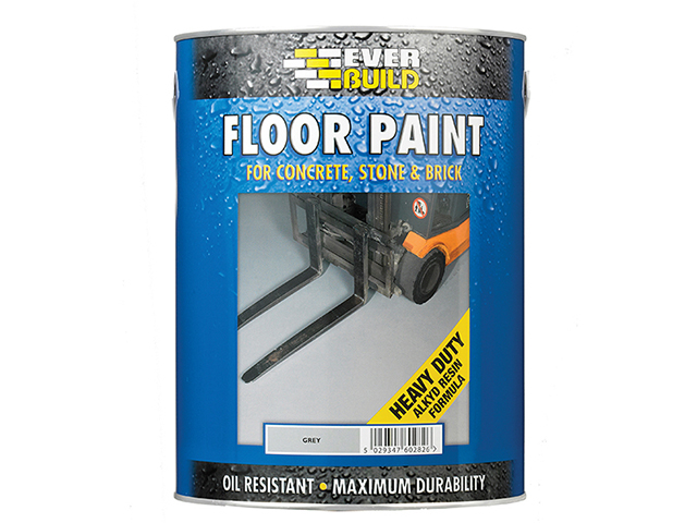 Everbuild Floor Paint Grey 5 Litre EVBFLOORGR