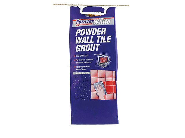 Everbuild Forever White Powder Wall Tile Grout 3kg EVBFWGROUT3
