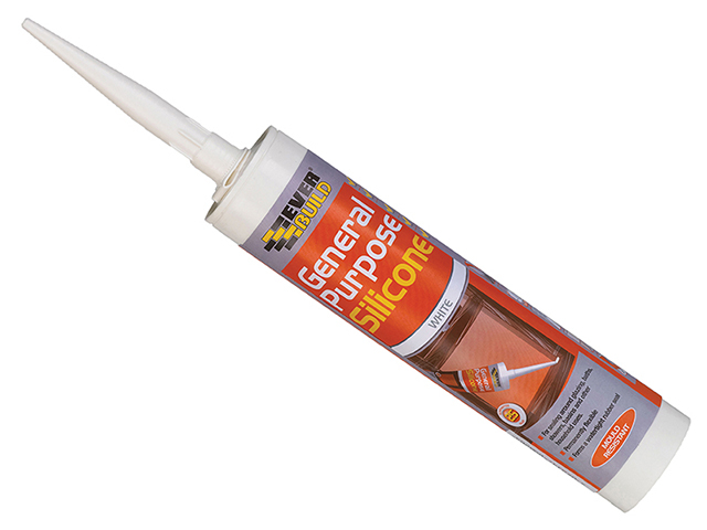 Everbuild General Purpose Silicone White 280ml EVBGPSWH