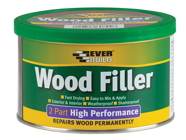 Everbuild Wood Filler High Performance 2 Part Light Stainable 1.4kg EVBHPWFL14K