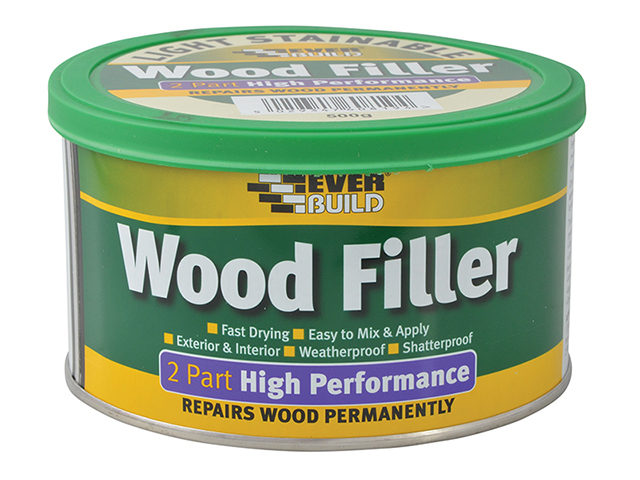 Everbuild Wood Filler High Performance 2 Part Light 500g EVBHPWFL500